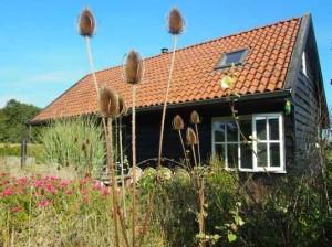 vrijstaand, uitzicht, romantisch, houten vakantiehuis, luxe