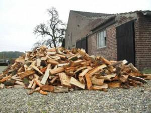 houtkachel, gratis droog hout, kersenhout